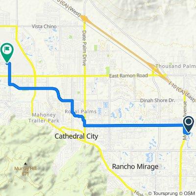 9002 Shadow Ridge Rd, Palm Desert to N Civic Dr, Palm Springs