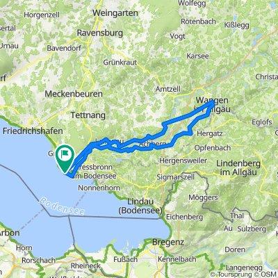Bodenseeroute: Langenargen - Wangen - Langenargen (64,31km)