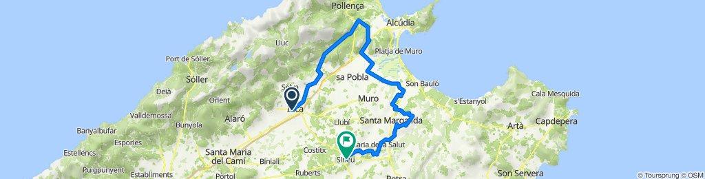 Mallorca: Inca-Campanet-albufera d'Alcúdia-Santa Margalida-Maria de la Salut-Sineu