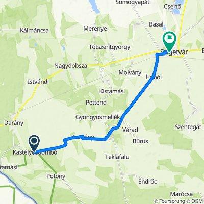 6. nap vége Kastélyosdombó - Szigetvár