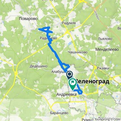 От улица Островского 5а, Алабушево до Зеленоград 1448, Москва
