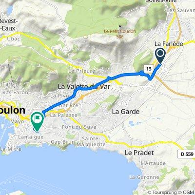 De 184 Avenue Alphonse Lavallée, La Garde à 616 Avenue de la Résistance, Toulon