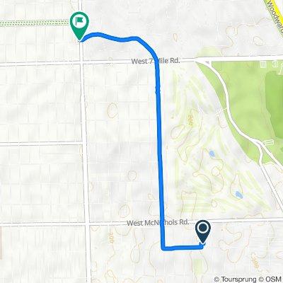 16824 Normandy Ave, Detroit to 19301 Livernois Ave, Detroit