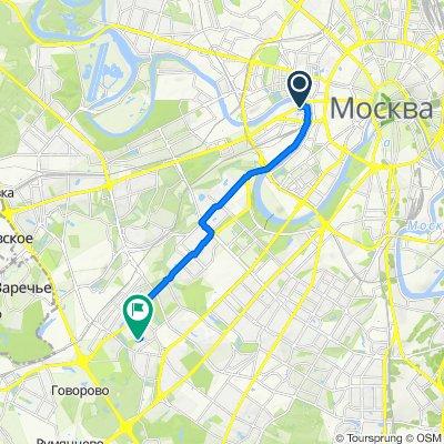 От Кутузовский проспект, 5/3 с4, Москва до Никулинская улица, К6, Москва