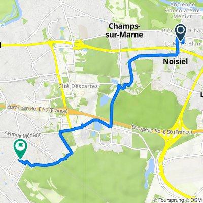 De 4 Rue de la Mare Blanche, Noisiel à 15bis Avenue Pierre Dupont, Villiers-sur-Marne
