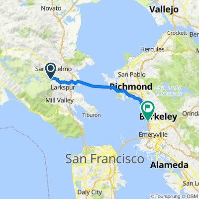 7 Treetop Way, Kentfield to Aquatic Park Trail, Berkeley