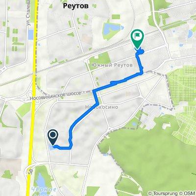 От Суздальская улица, вл8Бс3, Москва до Юбилейный проспект, 49А, Реутов