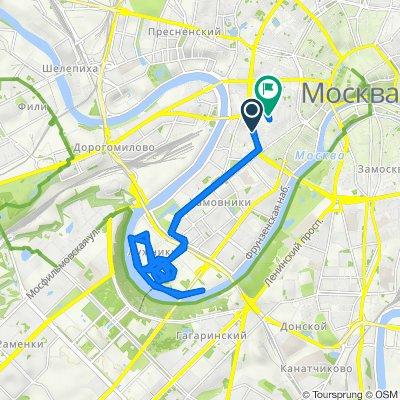 От Смоленский бульвар, 24 с1, Москва до Плотников переулок, 10 с2, Москва