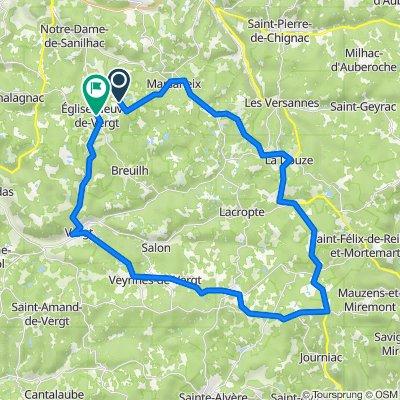 De 1365 Route du Puy, Eglise-Neuve-de-Vergt à 8 Rue de la Fraise, Eglise-Neuve-de-Vergt