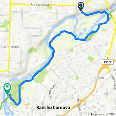 River Dr, Fair Oaks to 2300 Rod Beaudry Dr, Rancho Cordova