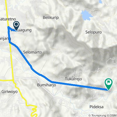 Unnamed Road, Baturetno to Jalan Raya Pidekso 45, Giriwoyo