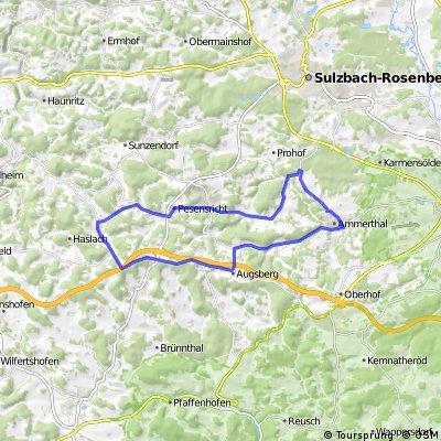 Ammerthal Rennradrunde über Fürnried