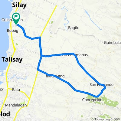 Buenavista Subd, Silay City to concepcion, Talisay City to Buenavista Subd, Silay City