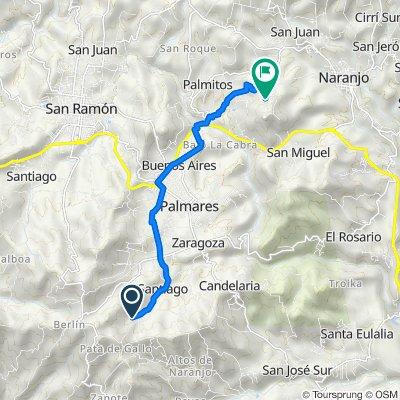De C/ La Mina, Santiago a Calle al Cerro Espíritu Santo