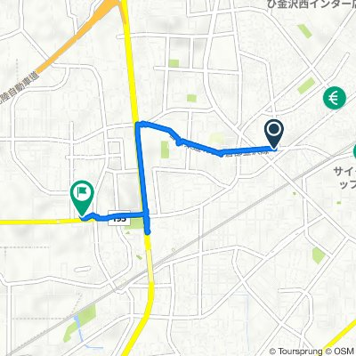 3丁目, 金沢市 to 1丁目, 金沢市