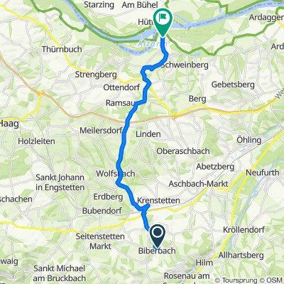 Waldesblick 360, Biberbach nach Marktplatz 2, Wallsee