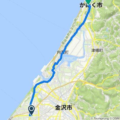 白山市 to ロ, かほく市