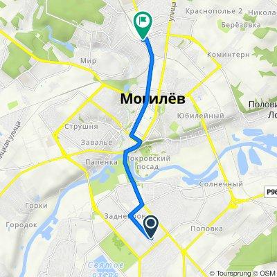 От Nepokoryonnykh 78, Магілёў до вокзал Могилёв-1