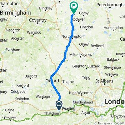 Ashampstead Road, Bradfield, Reading to Sutton Road, Dingley, Market Harborough