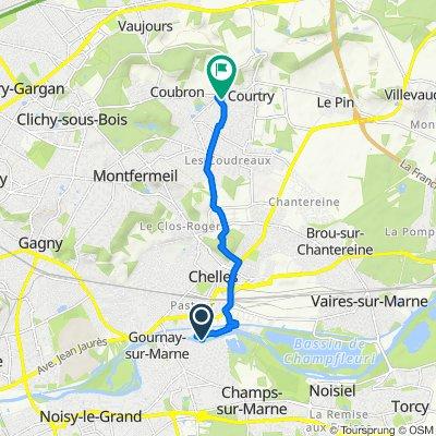 De Passerelle de Champs, Chelles à 7 Allée des Potiers, Courtry