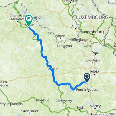 Metz-Sedan (pistes cyclables) +20km
