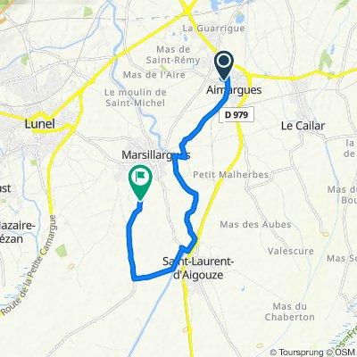 De 14 Impasse des Mimosas, Aimargues à D34e4, Marsillargues