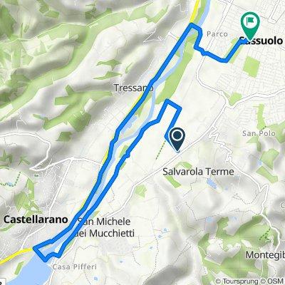 Da Via Superchia 2, Sassuolo a Vicolo Conce 10, Sassuolo
