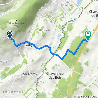 15–161 Route de Grilly, Grilly to Chemin Industriel 3, Chavannes-de-Bogis