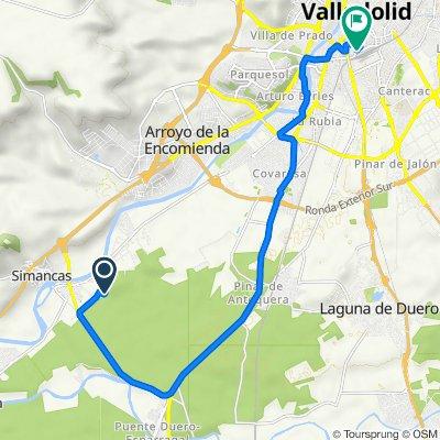 De Calle Trebede, 2–28, Simancas a Calle Antiguas Escuelas, 2C, Valladolid