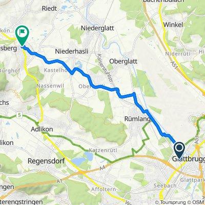 Cherstrasse, Glattbrugg nach Wehntalerstrasse 20, Dielsdorf