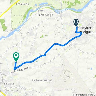 De 256 Chemin de la Chapelle, Camaret-sur-Aigues à Mas d'Arausio, Orange