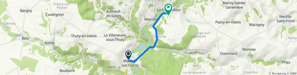 De Rue du Jour 9, Mareuil-sur-Ourcq à Rue du Vieux Château 18, La Ferté-Milon