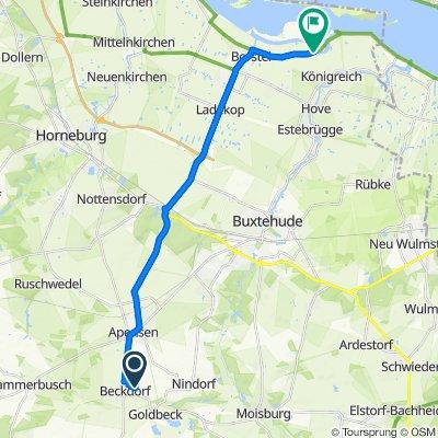 Waldfrieden 15, Beckdorf nach Hinterbrack 22–23, Jork