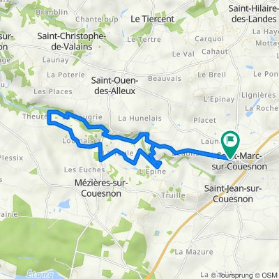 De Rue de l'Église 12, Rives-du-Couesnon à D22, Rives-du-Couesnon