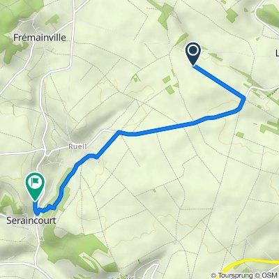 Itinéraire vers 15 Impasse de Bellevue, Seraincourt