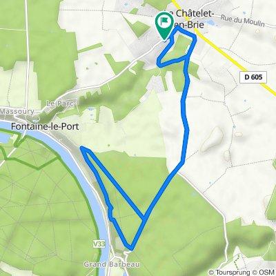 De 17 Route de Fontaine-le-Port, Le Châtelet-en-Brie à 15 Route de Fontaine-le-Port, Le Châtelet-en-Brie