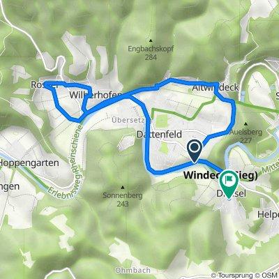 Dreiseler Straße, Windeck nach Wehrbusch 3, Windeck