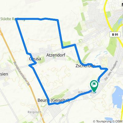 Starweg 1, Merseburg nach Starweg 5A, Merseburg (Saale)