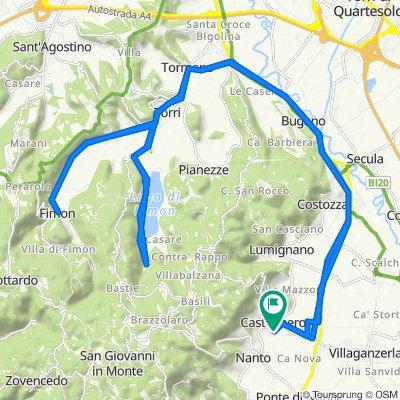Da Via degli Eroi 58, Castegnero a Via Ragazzi del '99 64, Castegnero