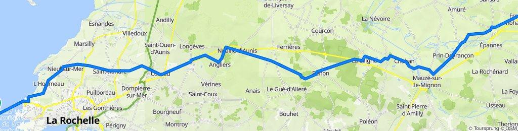 De Rue de la Victoire 12, Frontenay-Rohan-Rohan à D735, Rivedoux-Plage