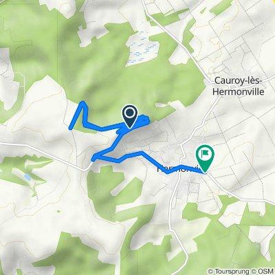 Itinéraire vers 34 Rue de Reims, Hermonville