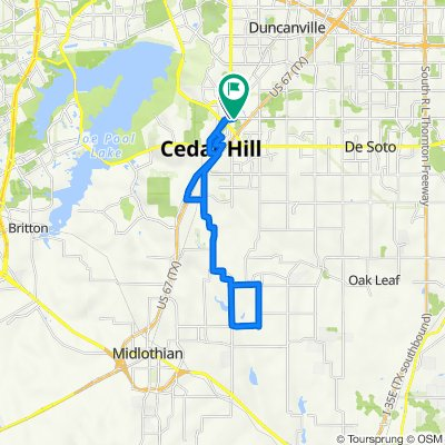 100 W Pleasant Run Rd, Cedar Hill to W Pleasant Run Rd, Cedar Hill
