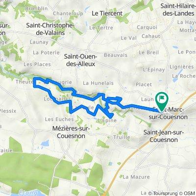 De Rue de l'Église 12, Rives-du-Couesnon à Rue de l'Église 12, Rives-du-Couesnon