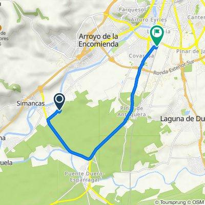 De Calle Zarcera, 11, Simancas a Carretera a Rueda, 77, Valladolid