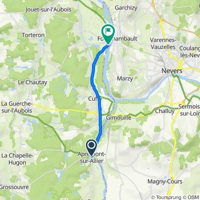 De Le Bourg 34, Apremont-sur-Allier à Levée de la Loire 1, Cours-les-Barres