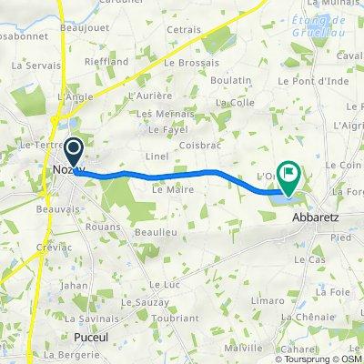 Itinéraire à partir de 10 Boulevard Hillereau, Nozay