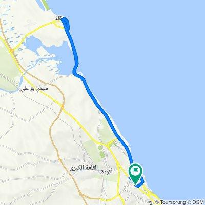 De P1, Sousse à P1 Route de tunis, Hammam Sousse