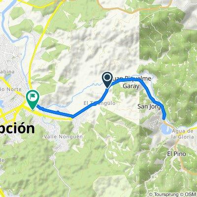 De Ruta 146, Concepción a Tegualda 38, Concepción