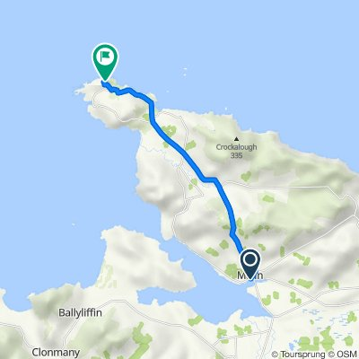 Route from Lagg Road, Malin