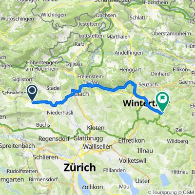 Bachstrasse 11, Oberweningen nach Rossweid 12, Winterthur